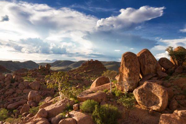Rock formations at Damaraland. Namibia